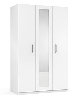 Kendal High Gloss 3 Door Wardrobe with Centre Mirror