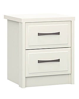 Lucille Assembled 2 Drawer Bedside Table
