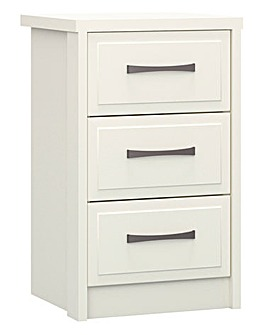 Lucille Assembled 3 Drawer Bedside Table