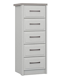 Lucille Assembled 5 Drawer Narrow Chest