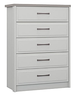 Lucille Assembled 5 Drawer Wide Chest