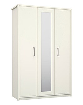 Lucille 3 Door Mirrored Wardrobe
