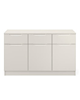 Sorrento Ready Assembled High Gloss Large Sideboard