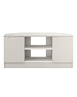 Sorrento Ready Assembled High Gloss Corner TV Unit