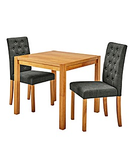 Oakham Table 2 Grace Fabric Chairs