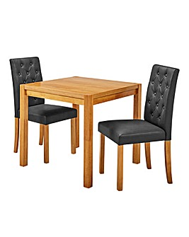 Oakham Table 2 Grace Faux Leather Chairs