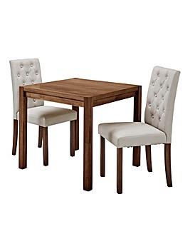 Oakham Table 2 Grace Faux Leather Chairs