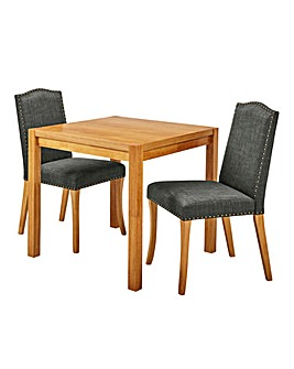 Oakham Table 2 Antonia Fabric Chairs