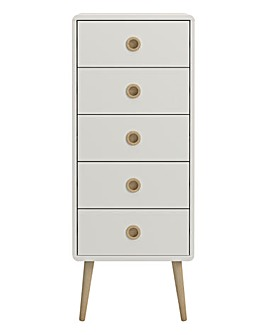Calico 5 Drawer Narrow Chest