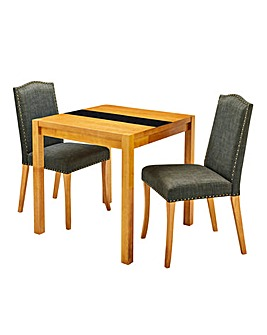Oakham Glass Table 2 Antonia Chairs