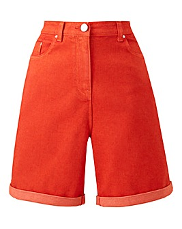 Red Everyday Denim Shorts