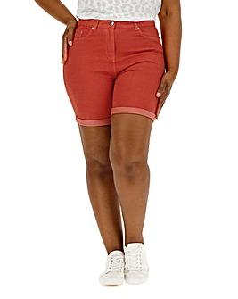 Red Everyday Denim Shorts