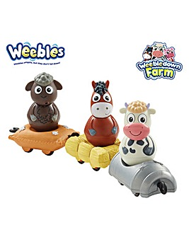 Weebles with Mini Vehicles Set