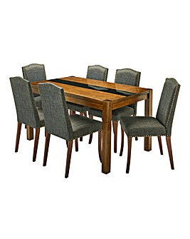 Oakham Glass Table 6 Antonia Chairs