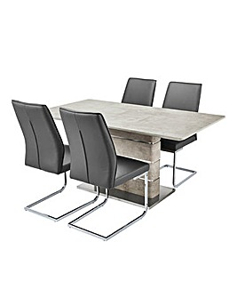 Esme Rectangular Table 4 Atlanta Chairs