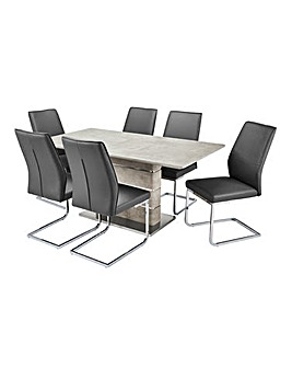 Esme Rectangular Table 6 Atlanta Chairs