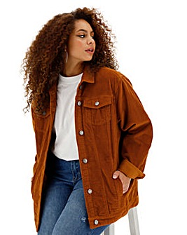 Stretch Cord Oversized Western Jacket