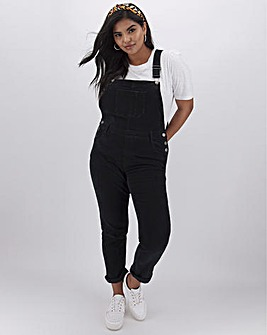 Black Stretch Cord Dungarees