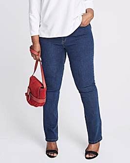Indigo Maggie Straight Leg Jeans Regular