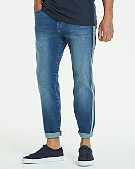 Tapered Seam Midwash Jeans 31 in