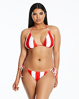 Simply Be Stripe Bikini Top
