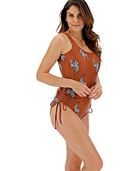 Adjustable Leg Scoop Back Swimsuit