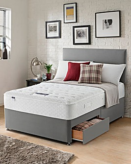 Silentnight Miracoil 7 Luxury Supercomfort Divan with Two Drawers
