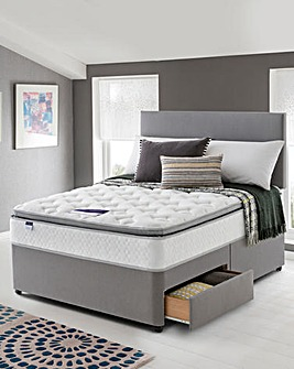 Silentnight Pillowtop 2 Drawer Divan