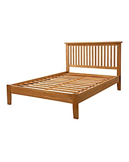Harrogate Oak Veneer Double Bedstead