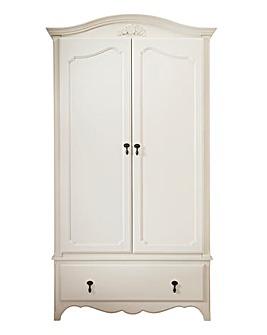 Lucille White 2-Door 1-Drawer Wardrobe