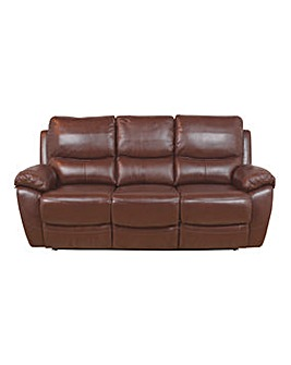 Bentley Leather 3 Seater Recliner Sofa