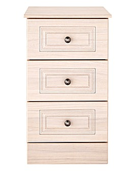Aragon 3 Drawer Narrow Bedside Chest