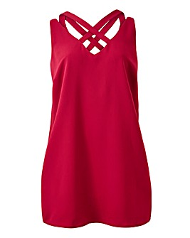 Berry Strappy Vest