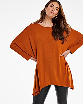 Camel Cut and Sew Hany Hem Top
