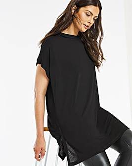 High Neck Side Split Tunic