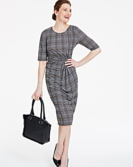 Check Twist Knot Dress