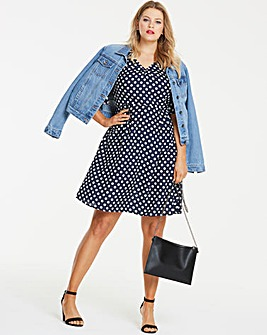 Spot Polka Dot T-Shirt Skater Dress