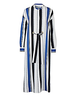 Petite Long Sleeve Shirt Dress