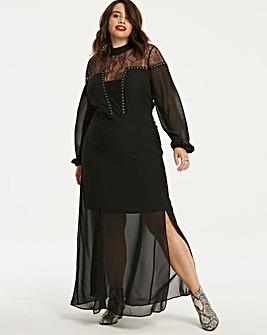 Stud Detail Lace Dress