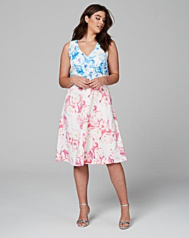 Wolf & Whistle Floral Two Print Dress