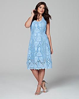 Wolf & Whistle Crochet Lace Midi Dress