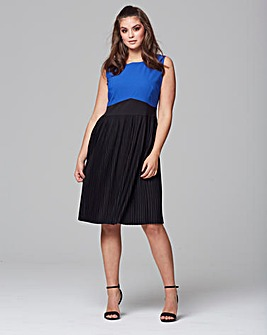 Wolf & Whistle Colour Block Dress