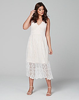 Lovedrobe Lace Overlay Dress