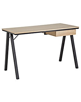 Industrial Style Desk with Drawer