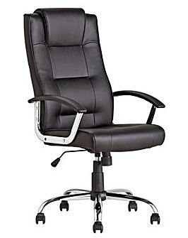 HOME Rectangular Manager Chair - Black