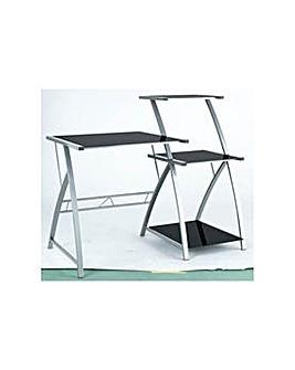 HOME Glass Desk with Shelf