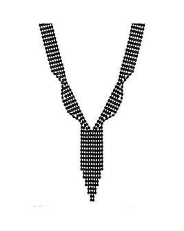 Mood Diamante Crystal Lariat Necklace
