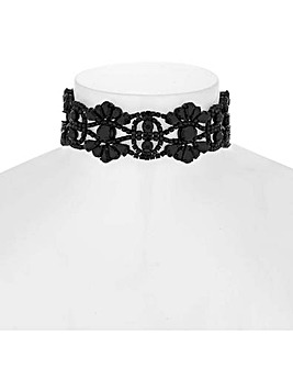 Mood Crystal Ornate Choker Necklace