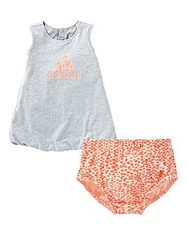 adidas Girls Infant Summer Dress And Bri