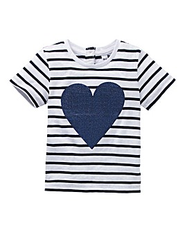 KD Baby Girl Sequin Heart T-Shirt
